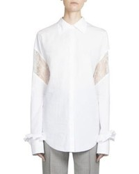 Nina Ricci Cotton Button Front Blouse