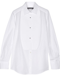 Dolce & Gabbana Cotton Poplin Shirt White