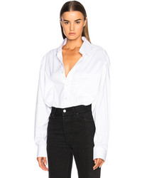 Vetements Decollage Shirt In White