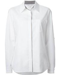 Diane von Furstenberg Gingham Collar Detail Shirt