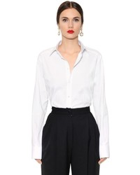 Dolce & Gabbana Oversized Stretch Cotton Poplin Shirt