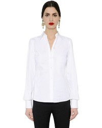 Dolce & Gabbana Stretch Cotton Poplin Shirt