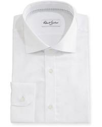 Robert Graham Empire Herringbone Dress Shirt White