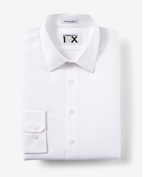 cdf8bd0b41c ... Express Extra Slim Fit Easy Care Diagonal Dobby 1mx Dress Shirt