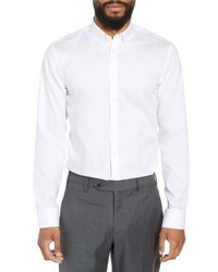 Nordstrom Men's Shop Extra Trim Fit Non Iron Solid Dress Shirt