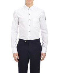 Moncler Gamme Bleu Snap Front Shirt White