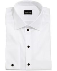 Giorgio Armani Stud Front Formal Shirt White