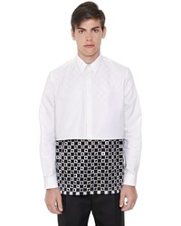 Givenchy Cropped Cotton Oxford Shirt