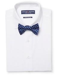 Graham Graham Dress Shirt Polka Dot Bow Tie Set White