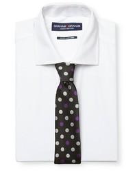Graham Graham Dress Shirt Polka Dot Tie Set White