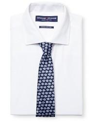 Graham Graham Dress Shirt Print Tie Set White