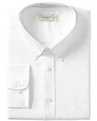 Haggar Regular Fit Pinpoint Oxford Solid Dress Shirt