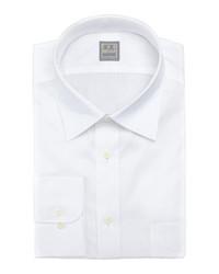 Ike Behar Solid Basic Fit Dress Shirt White