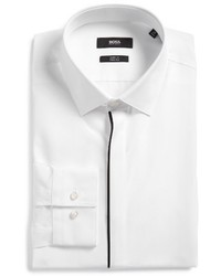 BOSS Jamis Slim Fit Solid Dress Shirt