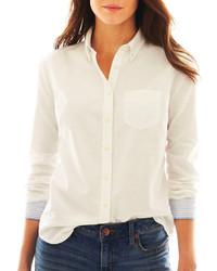 38a45e9cfdb578 ... of stock · Jcp Jcp Long Sleeve Oxford Shirt