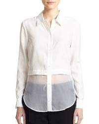 Elizabeth and James Jeza Solid Button Down Shirt