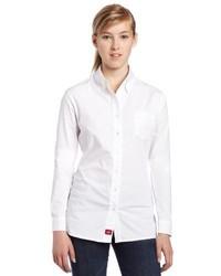Dickies Juniors Poplin Long Sleeve Stretch Dress Shirt