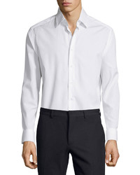Valentino Long Sleeve Button Front Dress Shirt White