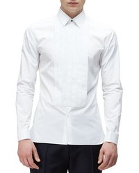 Burberry Long Sleeve Formal Tuxedo Shirt White