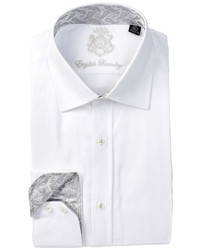 English Laundry Long Sleeve Textured Solid Dress Shirt
