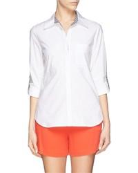 Diane von Furstenberg Lorelei Two Gingham Check Silk Chiffon Shirt