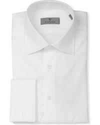 Canali Modern Fit Double Cuff Cotton Twill Shirt