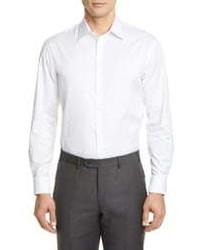 Emporio Armani Modern Fit Stretch Solid Dress Shirt