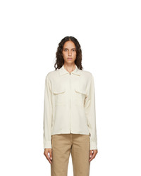 Lemaire Off White Zipped Shirt