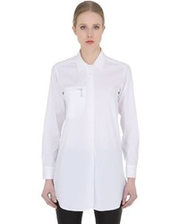 Optic Stretch Cotton Poplin Shirt