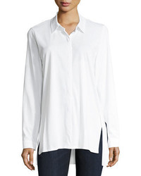 Eileen Fisher Organic Cotton Jersey Collared Shirt