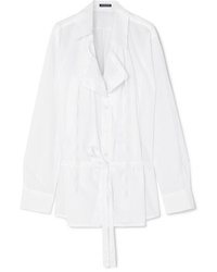 Ann Demeulemeester Oversized Cotton Poplin Shirt