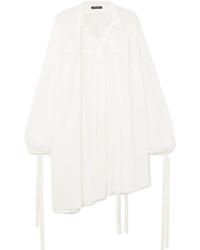 Ann Demeulemeester Oversized Tie Detailed Cotton Shirt