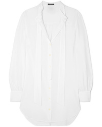 Ann Demeulemeester Oversized Tie Neck Cotton Shirt