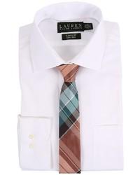 Lauren Ralph Lauren Pinpoint Spread Collar Classic Button Down Shirt Long Sleeve Button Up