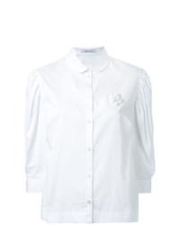 Simone Rocha Pleated Puff Sleeve Shirt