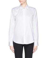 Proenza Schouler Point Collar Cotton Twill Shirt