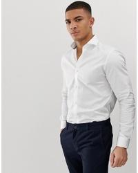 Jack & Jones Premium Smart Shirt In White