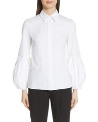 Michael Kors Puff Sleeve Stretch Poplin Shirt