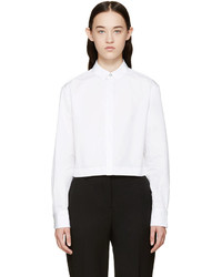 Rag and Bone Rag Bone White Cropped Audrey Shirt