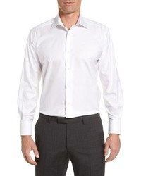 David Donahue Regular Fit Solid Dress Shirt