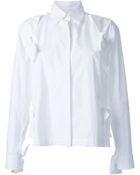 Roberts wood bow detail split shirt medium 6697925
