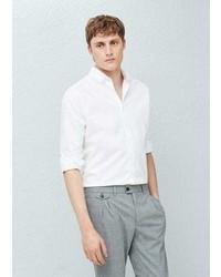 Mango Outlet Slim Fit Cotton Oxford Shirt