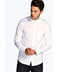 Boohoo Slim Fit Long Sleeve Oxford Shirt