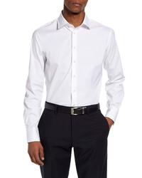 Thomas Pink Slim Fit Stretch Poplin Dress Shirt