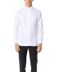 Club Monaco Slim Point Collar Twill Dress Shirt