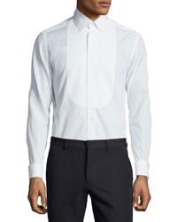 Valentino Smooth Bib Dress Shirt White