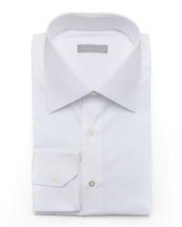 Stefano Ricci Basic Barrel Cuff Dress Shirt White