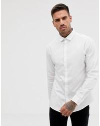ASOS DESIGN Stretch Slim Formal Work Shirt In White