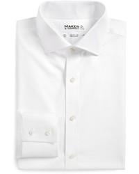 Maker & Company Tailored Fit Twill Dress Shirt