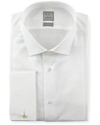 Ike Behar Textured Bib Tuxedo Shirt White